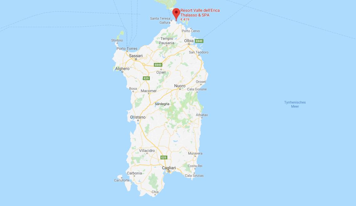 Landkarte Sardinien