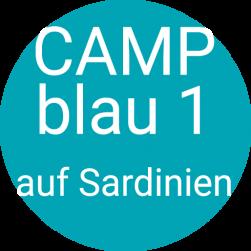 Camp blau in Sardinien
